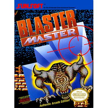 Retro Blast Master Game Poster//NES Game Poster//Video Game Poster//Vintage Game Cover Reprint