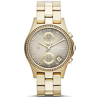 Marc by Marc Jacobs Henry Grey Dial Chronograph Watch - Gold