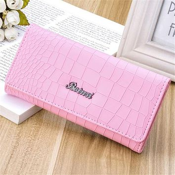 2017 Fashion Ladies Brand Handy Long Wallet Women Luxury Leather Credit Card Holder Money Wallets and Purse for Female Girls