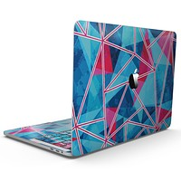 Vivid Blue and Pink Sharp Shapes - MacBook Pro with Touch Bar Skin Kit