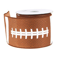 Football Polyster Ribbon Wired Edge, 2-1/2-Inch, 10 Yards