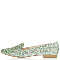 SPARROW Glitter Slipper Shoes - Mint