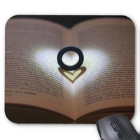 Love Ring and Shadow Heart Mousepad