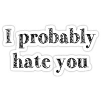 i probably hate you