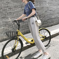 """Adidas"" Women Casual Fashion Letter Print Short Sleeve T-shirt Multicolor Trousers Set Two-Piece Sportswear"
