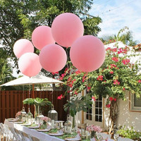 """Huge Giant High Quality Pink Balloons up to 36 """" inch 3 feet 91 cm XL Jumbo wedding babyshower decoration sweet table wedding centrepiece"""