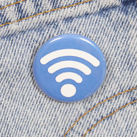 Wifi Symbol 1.25 Inch Pin Back Button Badge