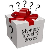 Evelots Jewelry Mystery Surprise Box, 4 Piece Set - Save 50 Dollars