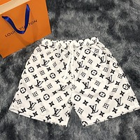 LV LOUIS VUITTON high street light luxury full printed logo breathable shorts