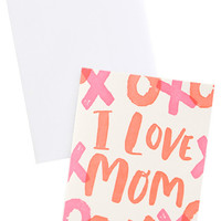 Neon XO Mother's Day Card
