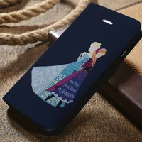 DIsney Frozen Anna and Elsa Quotes Custom Wallet iPhone 4/4s 5 5s 5c 6 6plus 7 and Samsung Galaxy s3 s4 s5 s6 s7 case