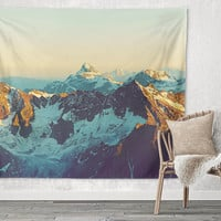 Sunrise Snow Mountains Trendy Boho Wall Art Home Decor Unique Dorm Room Wall Tapestry Artwork