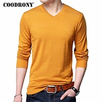 Knitted Wool Pullover Men Casual V-Neck Sweater Men Clothing Men Cotton Sweaters Slim Fit Pull Home Shirts