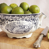 French Vintage Faience Bowl