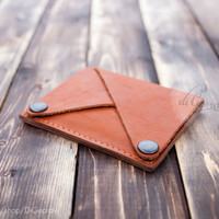 Coin pocket wallet leather wallet woman slim wallet minimal wallet brown genuine leather wallet credit card wallet card holder travel wallet