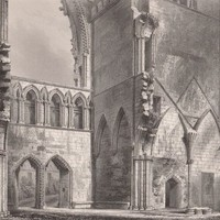 Antique Print Elgin Cathedral Interior of the West End Scotland (A62) by Grandpa's Market