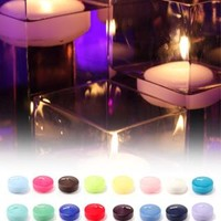 Colored Floating Candles Pack of 6 - David's Bridal- mobile