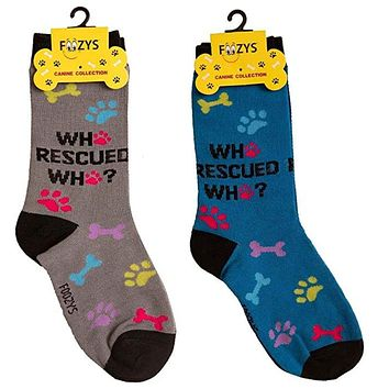 Who Rescued Who - Crew Socks