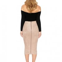 Naked Wardrobe I Mean What I Suede Skirt - Womens