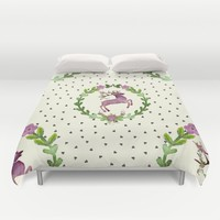 Deer Pattern 02 Duvet Cover by Aloke Design