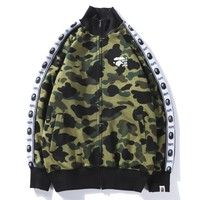 Bape Aape New fashion sleeve strink mark print camouflage long sleeve top coat