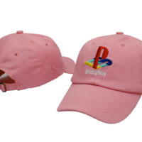 PRETTY BOY Embroidered Baseball Cap Hat Pink