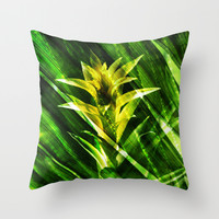 Tropical Throw Pillow by Cafelab