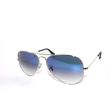 Cheap RAY BAN SunglaSSeS 3025 Rayban 003/3F SILVER/BLUE Gradient LARGE AVIATORS 58 outlet