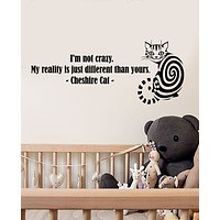 Vinyl Wall Decal Stickers Quote Words Inspiring Cheshire Cat Fairy Tale Letters 3351ig (22.5 in x 9.5 in)