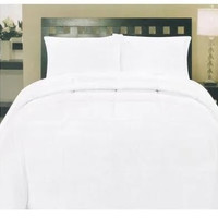 Cozy Home Down Alternative 5 Piece Embossed Comforter Set - White (Queen)
