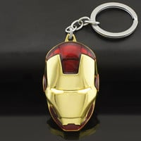Marvel Comics Super Hero Avengers Iron Man Mask Metal KeyRings Key Chains Purse Bag Buckle Key Holder Accessories Keychains K103