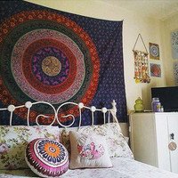 CHRISTMAS GIFT Hippy boho YOGA Mandala meditation Tapestry Wall Hanging Throw Cotton  Bedspread Beach Spread Bed Spread Picnic Spread