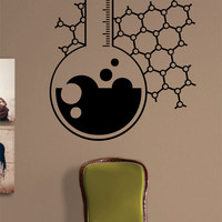 Chemistry Beaker Science Design Decal Sticker Wall Vinyl Art Home Room Decor
