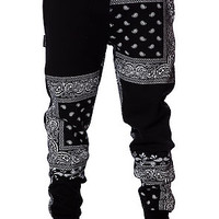 The Bandana Squares Sweatpants in Black
