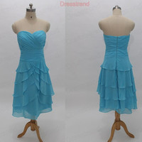 Bridesmaid Dress - Blue bridesmaid Dress / Short Bridesmaid Dress / Blue bridesmaid Gown / Prom Dress / Blue prom Dress / Evening Dress