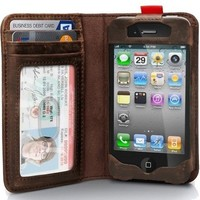 Leather Readbook Case for iPhone 4 / 4S