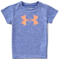 Under Armour Little Girls 2T-6X Glitter Big Logo Short-Sleeve Graphic Tee | Dillards