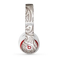 The Tan Highlighted Paisley Pattern Skin for the Beats by Dre Studio (2013+ Version) Headphones