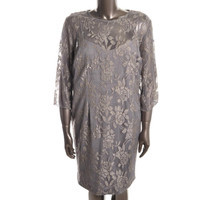 Patra Womens Lace 3/4 Sleeves Cocktail Dress
