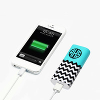Custom Personalised Monogram Power Bank Charger for iPhone 6 6 Plus 5S