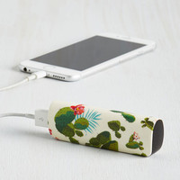 Travel Cactus What You Preach Battery Pack in Desert by ModCloth