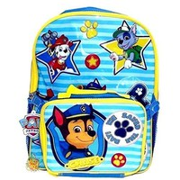 Licensed Paw Patrol Boys' We Save The Day 15 Inch Backpack with Lunch Kit