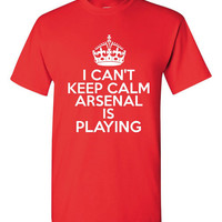 Can't Keep Calm AC Milan is Playing Great Sports Soccer T Shirt Makes Great Futbol T Shirt Unisex Ladies Mens Shirt Great Soccer Shirt