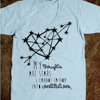 The Fault In Our Stars, John Green, TFIOS, My Thoughts Are Stars I Cannot Fathom Into Constellations, QUOTE, Fault In Our Stars Shirt