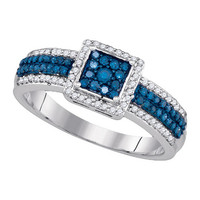 Diamond Fashion Ring in Sterling Silver 0.5 ctw