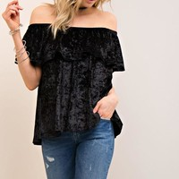Vanessa Crushed Velvet Top