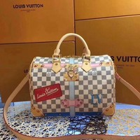 DCCK LV Louis Vuitton WOMEN'S DAMIER CANVAS SPEEDY 30 HANDBAG SHOULDER BAG