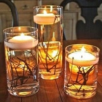 20PCS/Lot Floating Candles Magical Birthday Candle Home Decor Wedding Party Decoration Velas Bougie Anniversaire 4 Colors