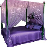 Magical Purple: Canopy Bed Set
