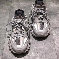 Balenciaga Track Trainers In Gray Mesh And Nylon Sports Sneakers Shoes